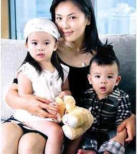 刘涛孩子图片 阔太刘涛大晒两个孩子照片